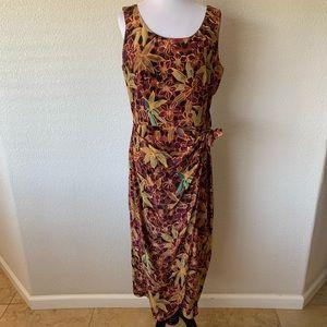 Spenser Jeremy Vintage Faux Wrap Dress Midi Boho
